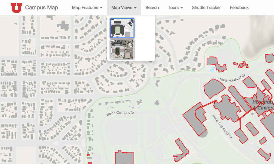 Map Features — University of Utah Online Map