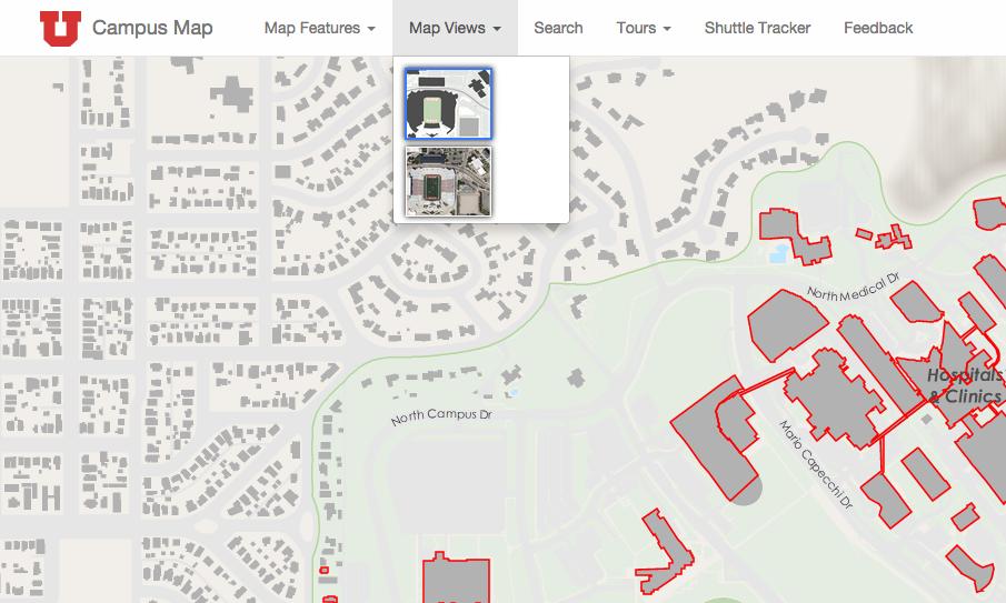 Map Features — University of Utah Online Map