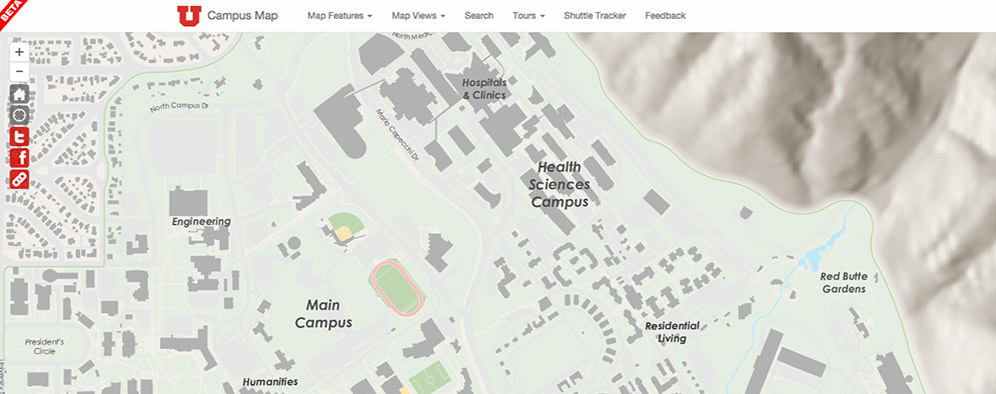 University of Utah Online Campus Map