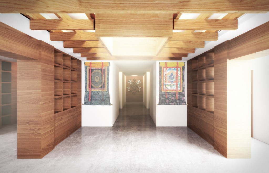 A design rendering of the entrance at the Tibetan Community Center. Photo credit: University of Utah School of Architecture