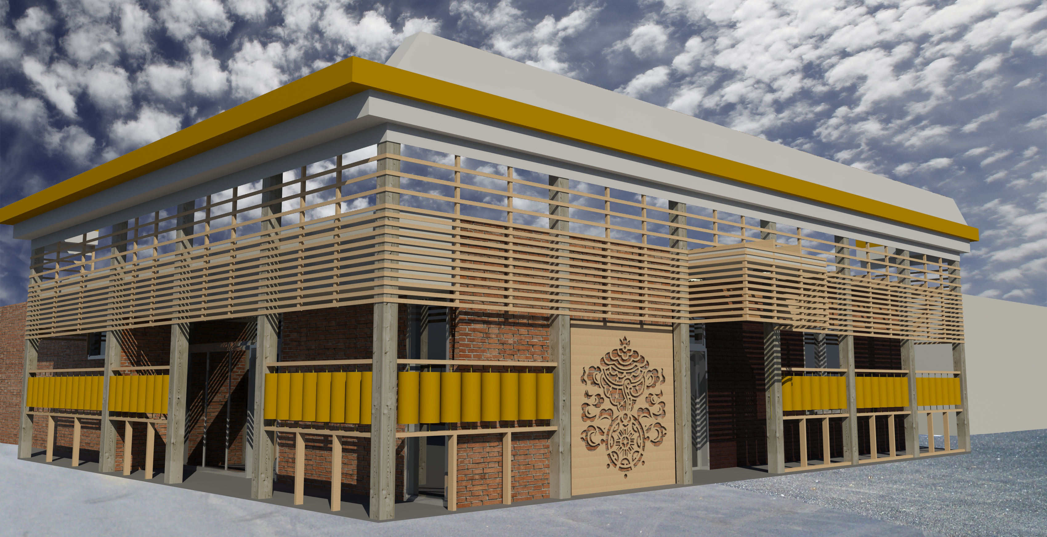 Tibetan Community Center Rendering