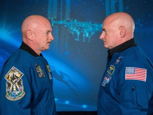 Astronaut twin brothers Mark and Scott Kelly.