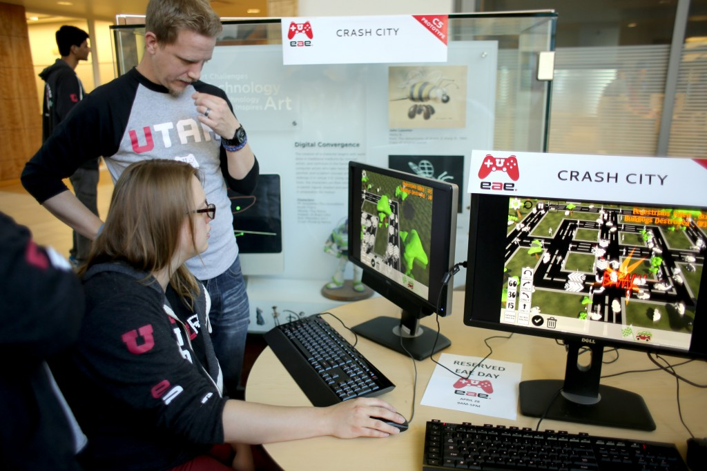 Students in the EAE program demonstrate their games.