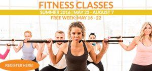 Fitness Classes Summer 2016 Box