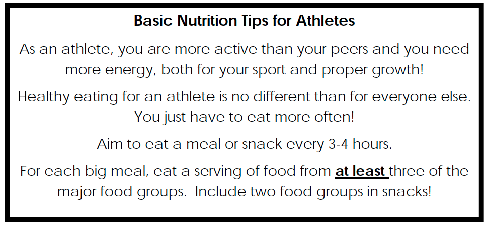Basic nutrition tips for Athletes