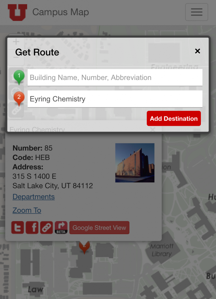 Campus Map Routing App Current Location