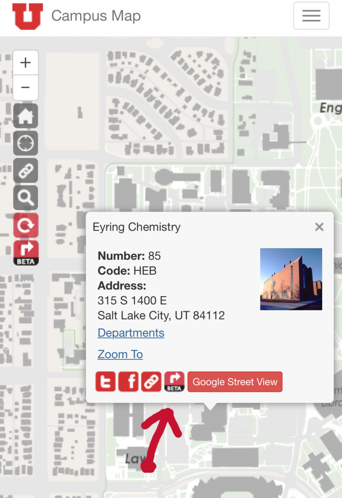 Campus Map Routing Feature Locate Destination