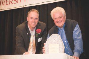 Colin Hilton, president of the Utah Olympic Legacy Foundation and Gary DeSeelhorst.