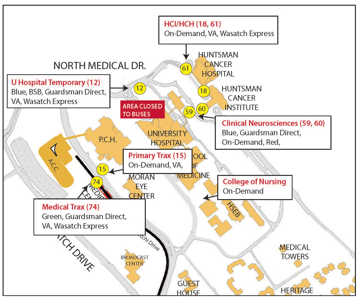 Va Hospital Utah Map.Construction Commuter Updates Theu