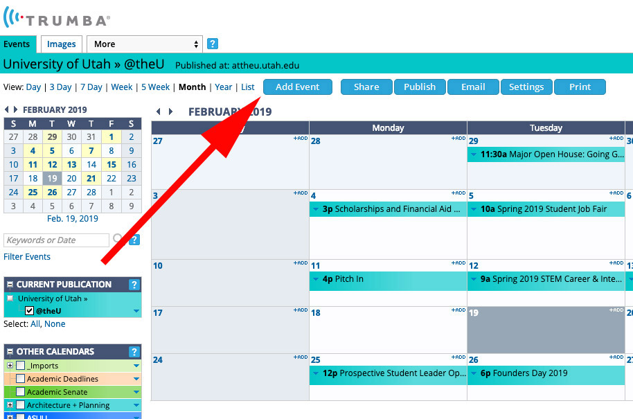 Getting started with your Trumba calendar   @theU