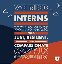 We need interns who can build just, resilient, and compassionate campus communities.