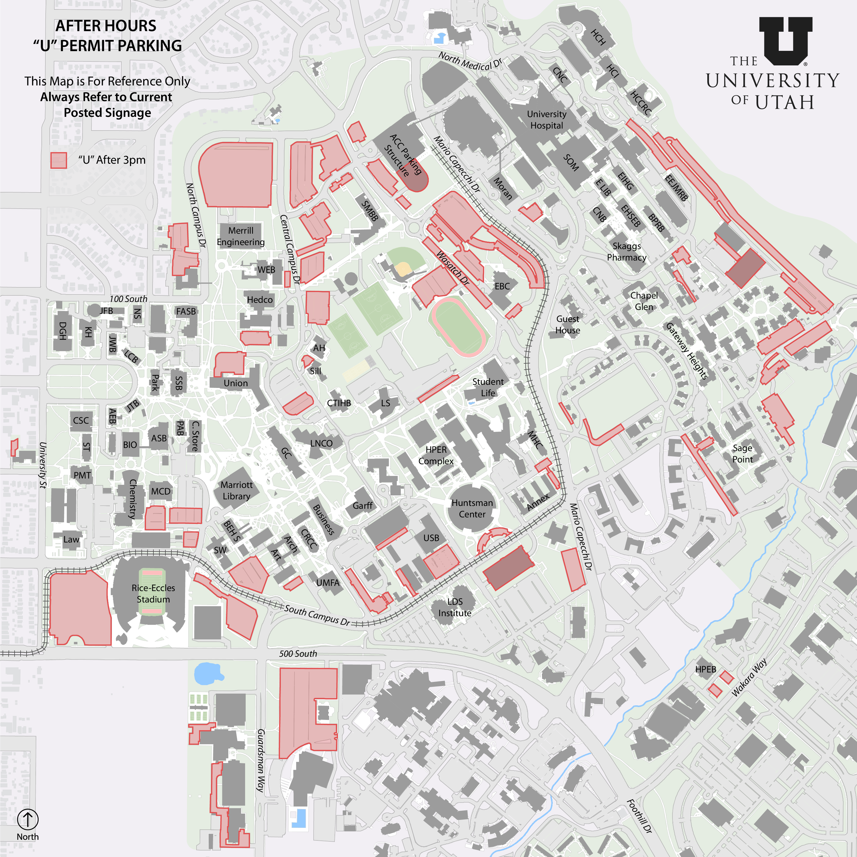University Of Utah Map From 'A' to 'U' | @theU