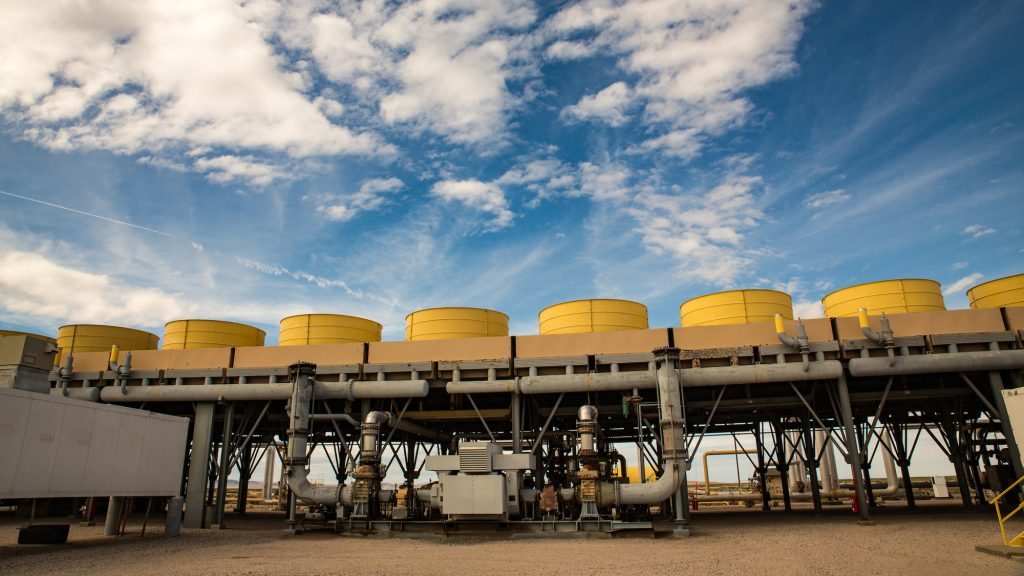 Soda Lakes geothermal power plant