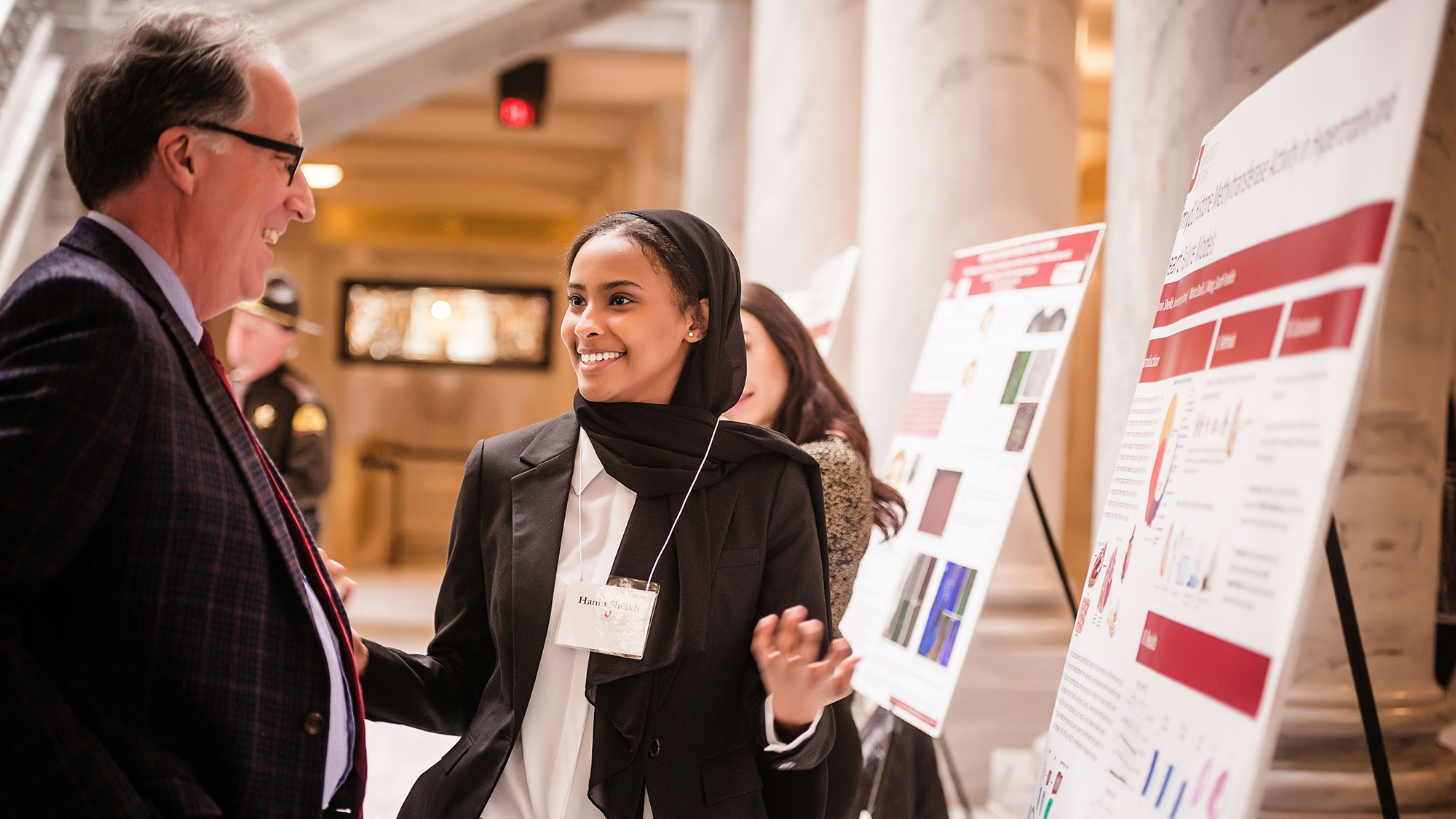 U student presents research on Capitol Hill