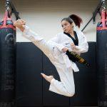 Student and Taekwondo athlete Samery Moras