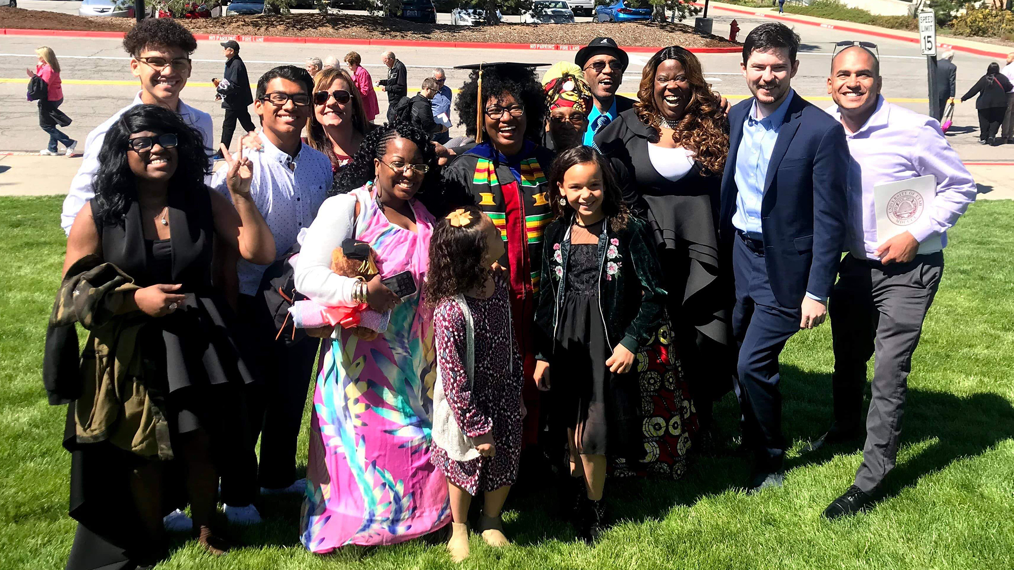 La'Shaye and her family at graduation