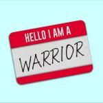 Hello I am a warrior nametag