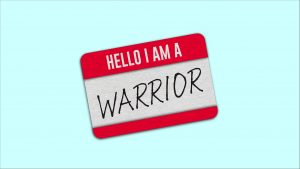 Hello I am a warrior nametag