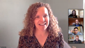 Sarah Reese, doctoral candidate, defends her dissertation via Zoom