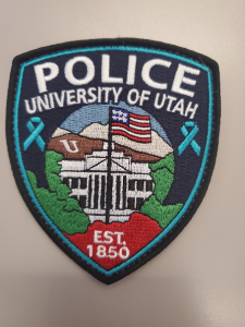 Patch worn by officers in recognition of Sexual Assault Awareness Month