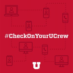 #CheckOnYourUCrew graphic