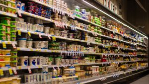 Grocery store isle, dairy section
