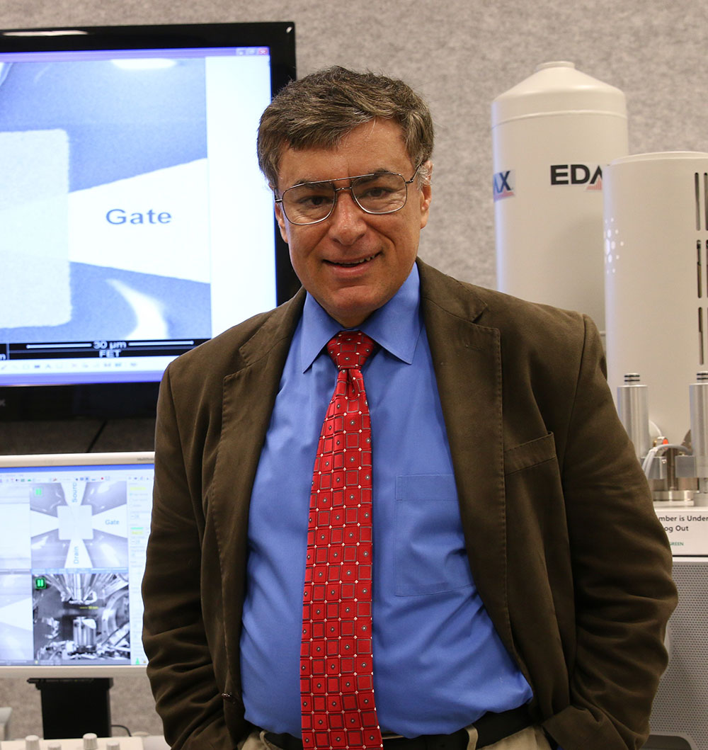 University of Utah electrical and computer engineering professor Massood Tabib-Azar stands in his lab,