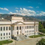 Aerial photo of the John R. Park Building at the University of Utah