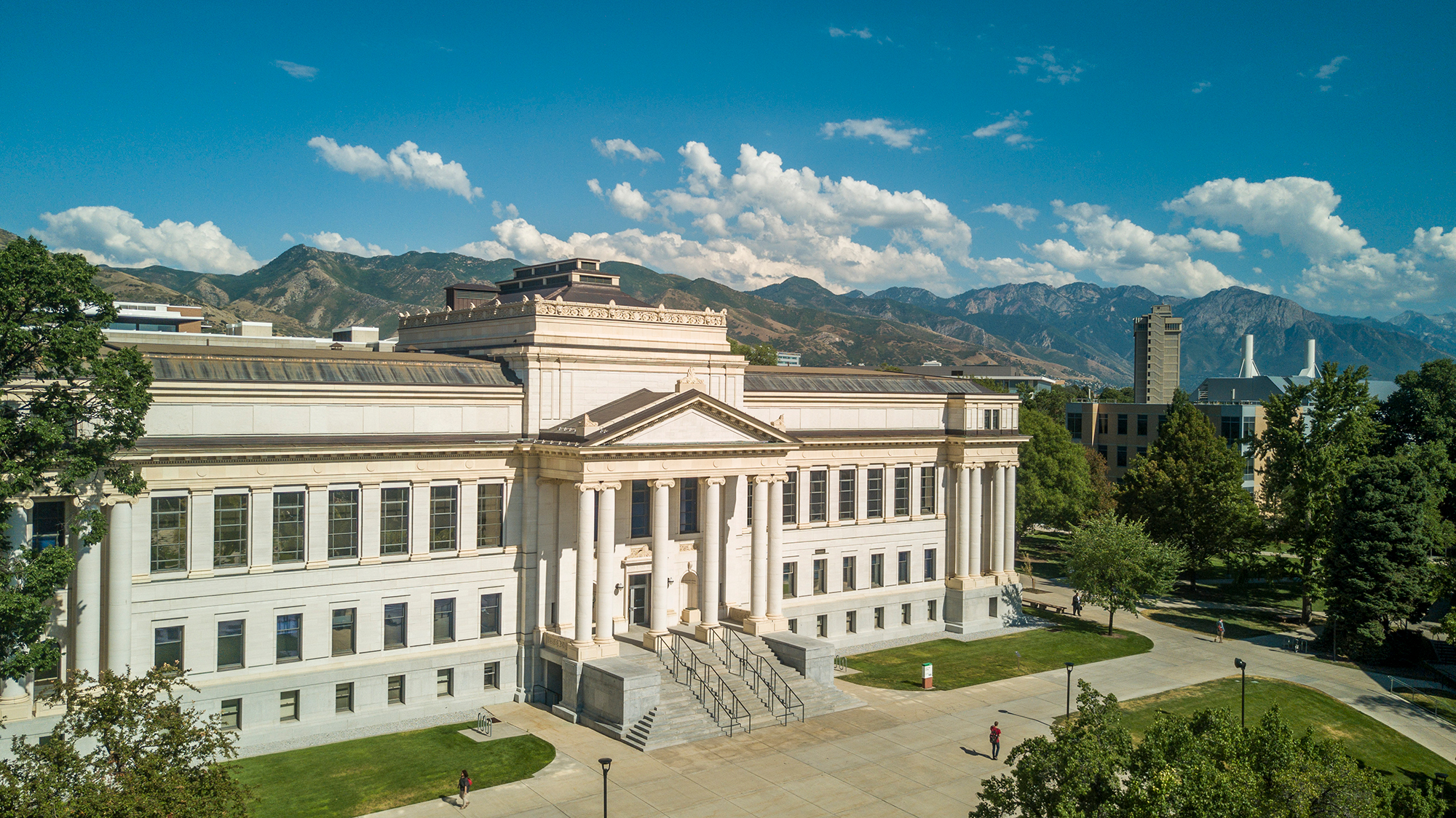 Aerial photo of the John R. Park Building at the University of Utah