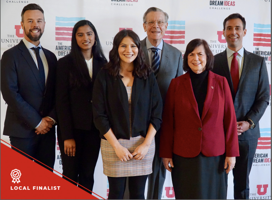 "Photo of ""Well-being Elevated"" group as they are recognized as finalists in the American Dream Ideas Challenge"