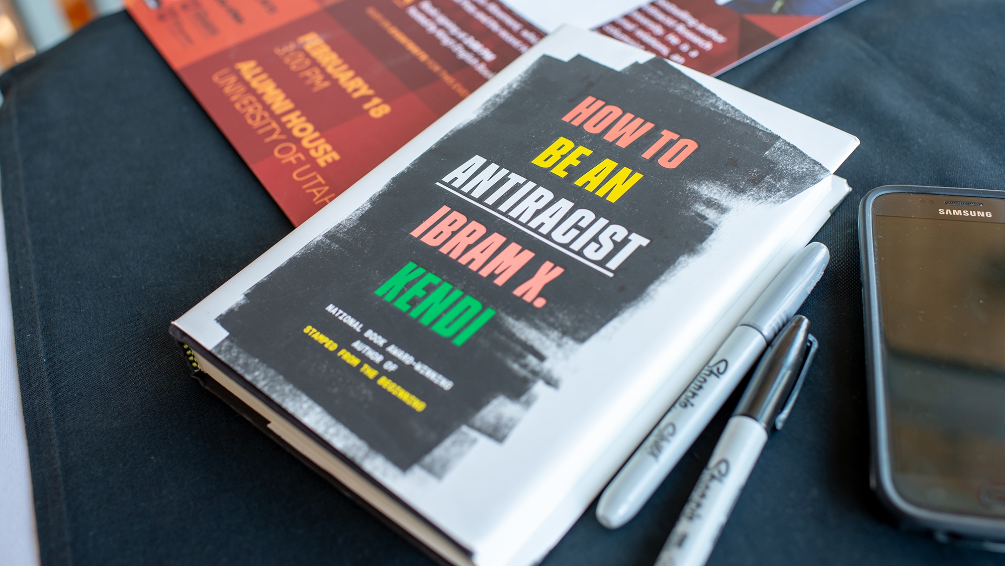 "book on a table titled, ""How to be an antiracist"" by Ibram X Kendi"