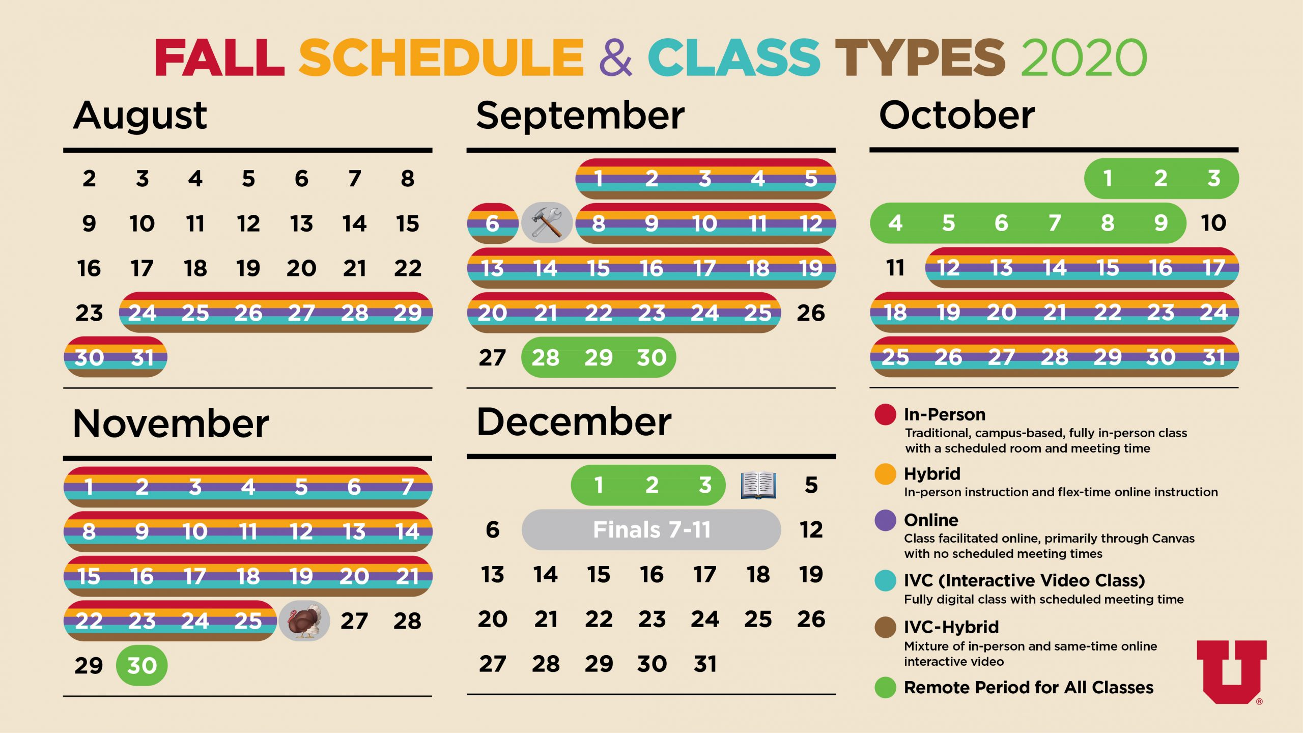 Fall Schedule and Class Types