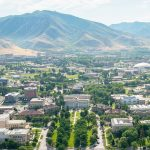 aerial view of the University of Utah campus