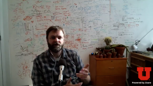 Nels Elde discusses his MacArther Fellowship on the University of Utah's Facebook Page via Zoom
