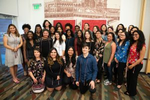 large group of students pose for photo at 2019 CESA graduation